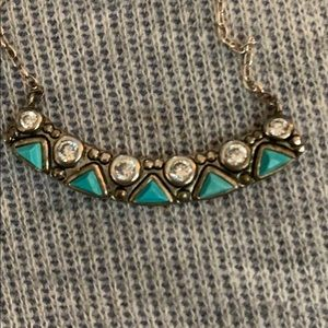 Silpada Turquoise sterling silver with czs